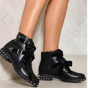 Bow Down Studded Boot